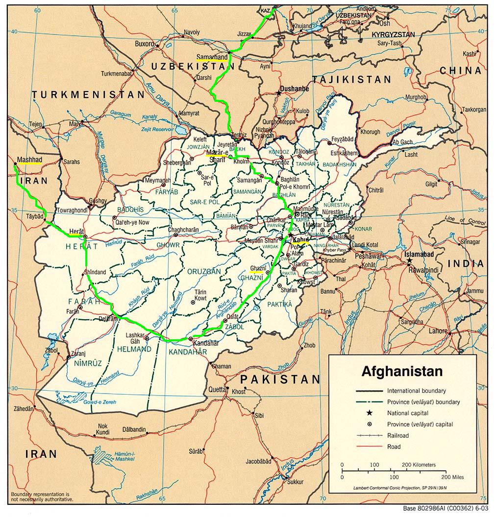 путь по Афганистану
